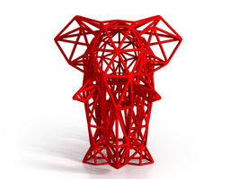 3D print model Elephant Wireframe