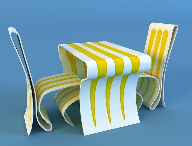 modern table and chair 3d model max 1