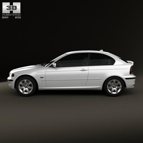 BMW 3 Series Compact E46 2004 3D Model MAX OBJ 3DS FBX C4D