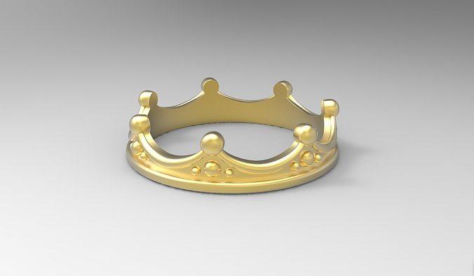 ring crown all sizes 3d model obj mtl stl 3dm 1