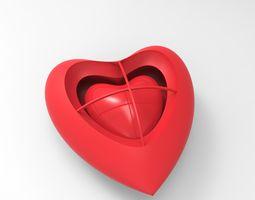 3d printable model heart heart earring