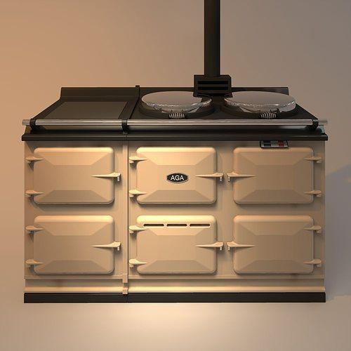 aga stove 3d model obj mtl 3ds 3dm dwg 1
