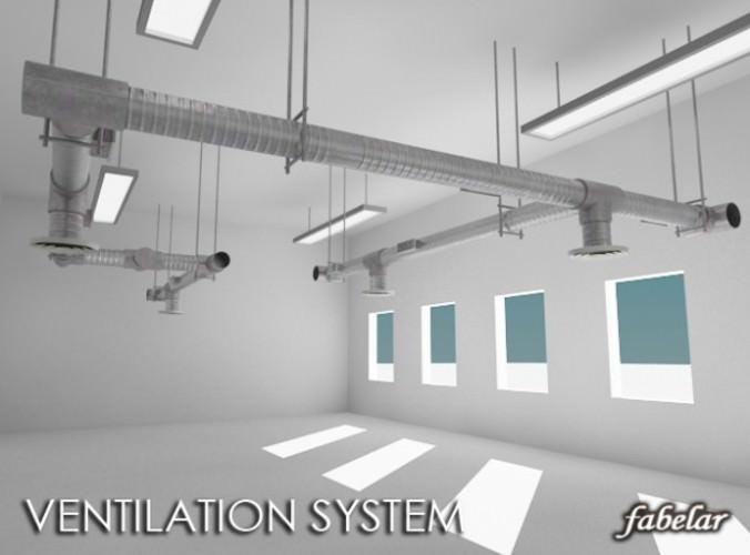 Ventilation system3D model