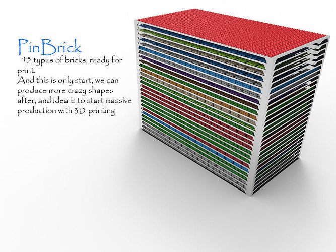 pinbrick 3d model stl stp 1