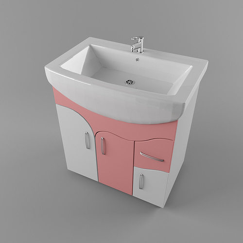 Bathroom sink 3d model max obj 3ds fbx mtl for New model bathroom