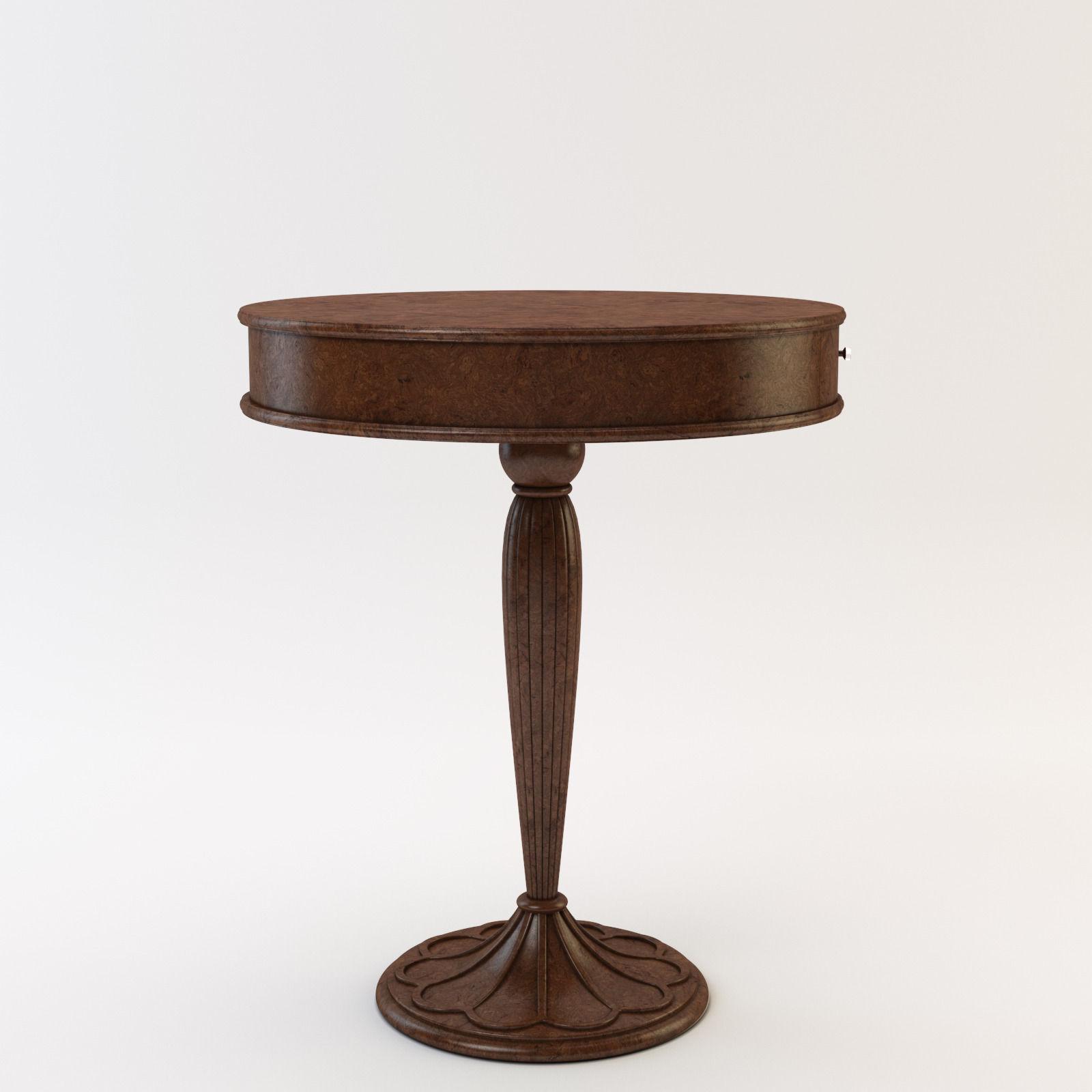 Coffee Table 3d Model Max Obj Fbx