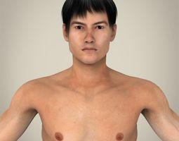 realistic asian man 3d model max obj 3ds fbx c4d lwo lw lws
