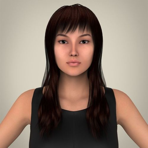 Realistic Pretty Lady3D model