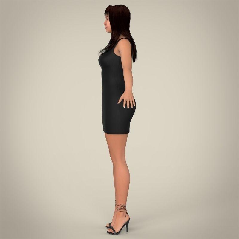 Realistic Girl 3D Model .max .obj .3ds .fbx .c4d .lwo .lw