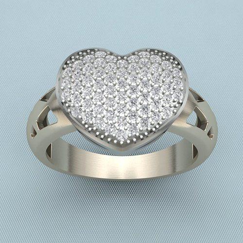 ring heart qq 3d model stl 3dm 1