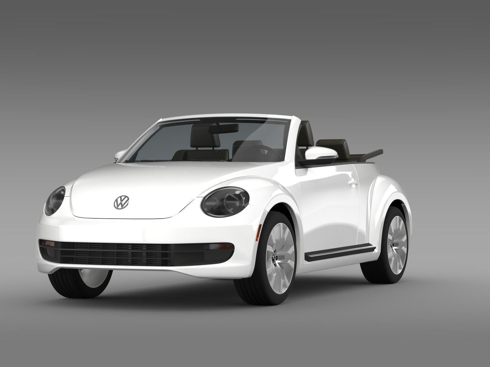 vw beetle tdi cabrio 2014 3d model max obj 3ds fbx c4d lwo lw lws. Black Bedroom Furniture Sets. Home Design Ideas