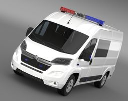 Citroen Relay Police 2015 3D Model