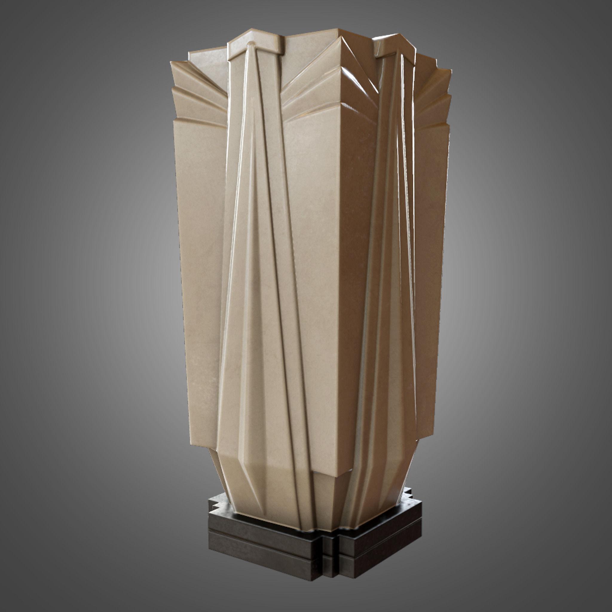 Art Deco Vase   Game Ready 3D asset | CGTrader