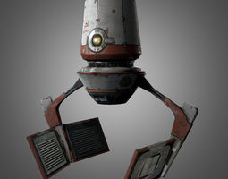 Red Zed Droid 3D model