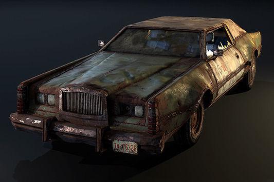 Post Apocalyptic Car3D model