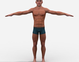 Athletic Male 3D Model