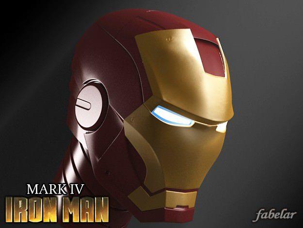 ironman head 3d model max mat 1