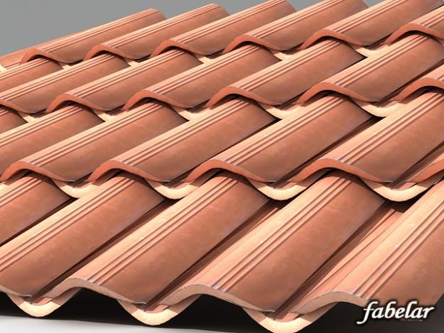 3d Model Roofing Tiles 2 Cgtrader