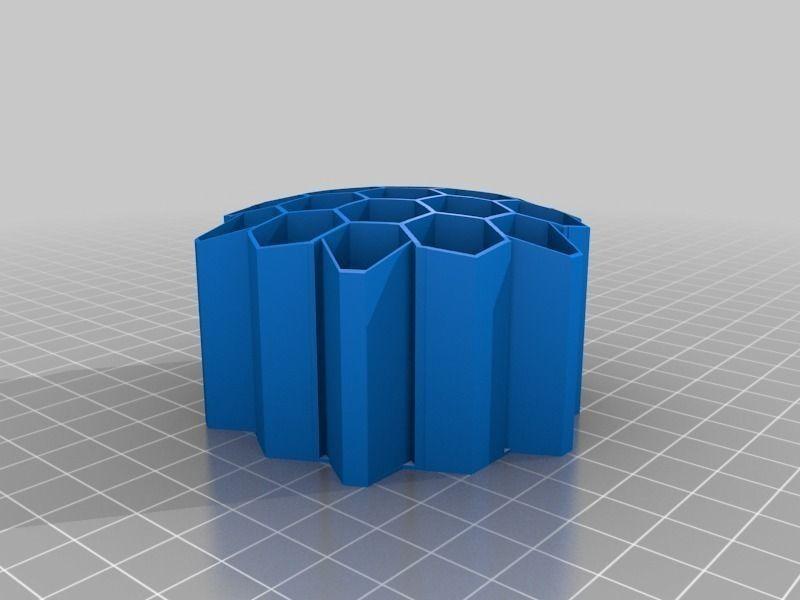 Honeycomb Pencil Holder Free 3d Model 3d Printable Stl