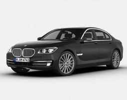 bmw 7 series 2013 3d model max obj 3ds fbx