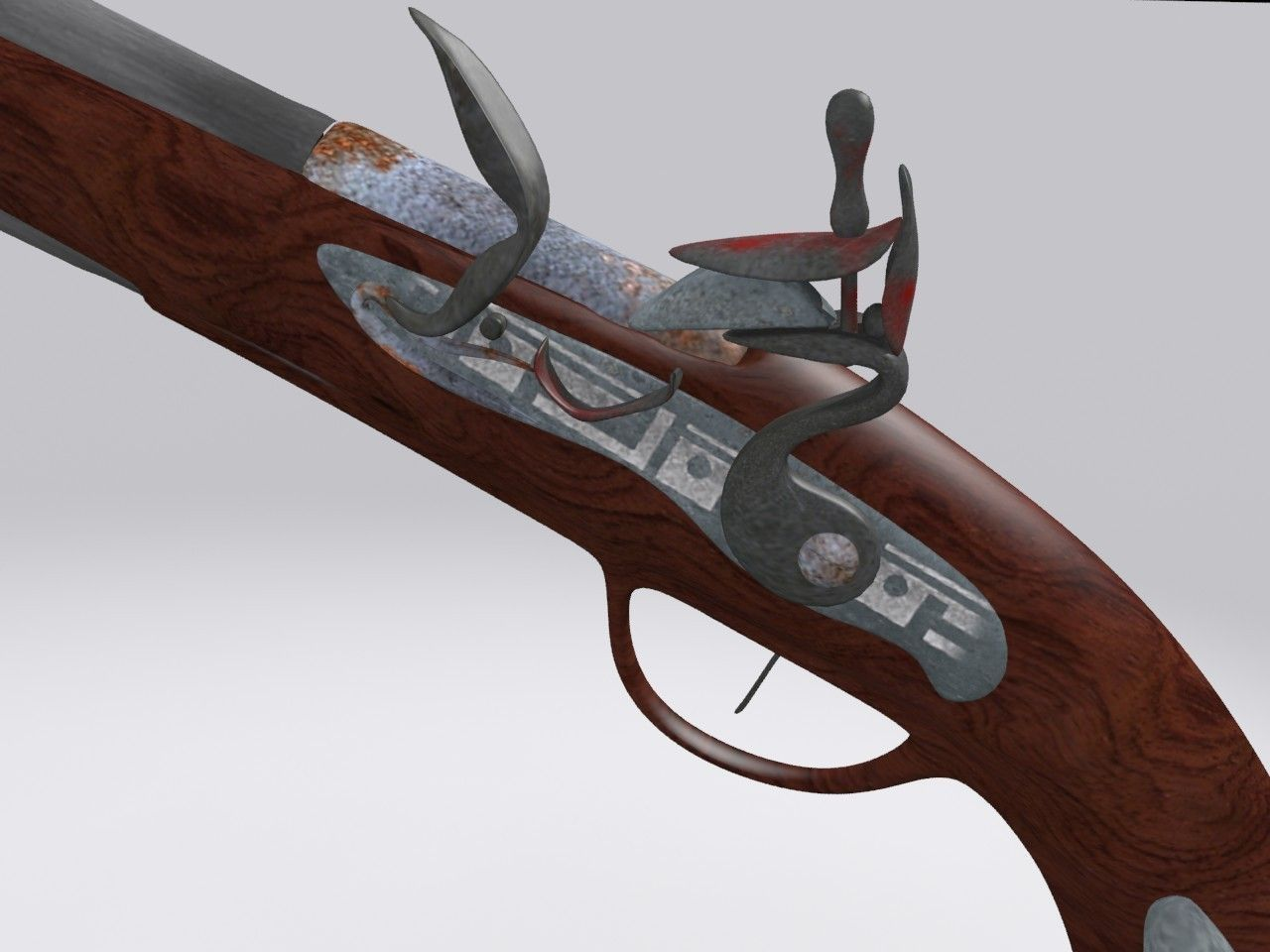 Old Gun 3d Model Max Obj Fbx Mtl Cgtrader Com