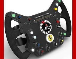 Ferrari Steering Wheel Replica 3D Model