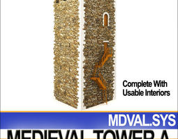 Medieval Tower A 3D