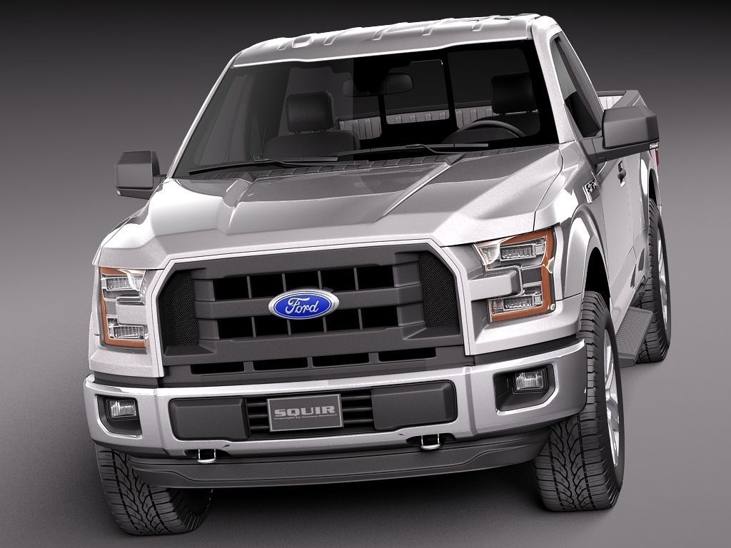 Ford f-150 regular cab 2015 3d model