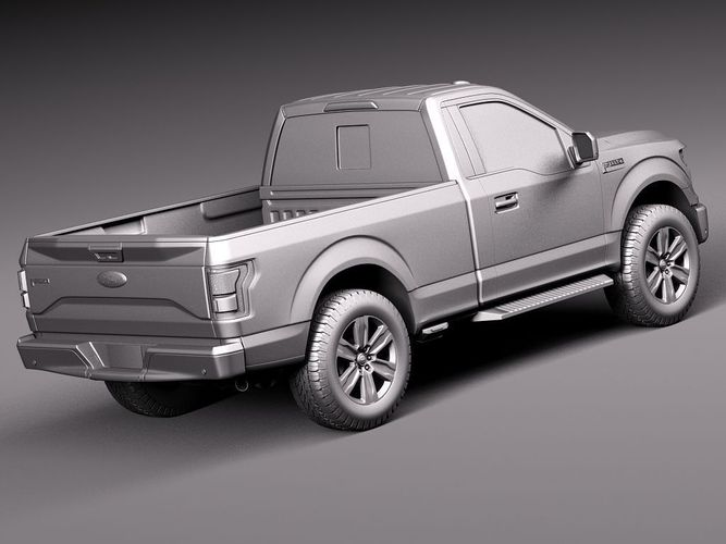 ford f 150 regular cab 2015 3d models. Black Bedroom Furniture Sets. Home Design Ideas