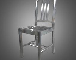 Navy Metal Chair 3D Model