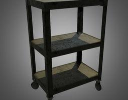 TV Mobile Shelf - Game Ready 3D asset