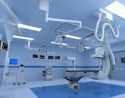 Operating Room Interior 3D Model
