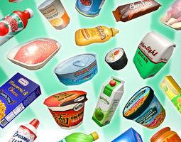 supermarket gluttony pack realtime 3d model