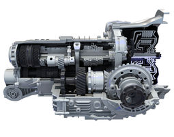 Transmission Cutaway Cayman 981 Boxster engine 3D Model