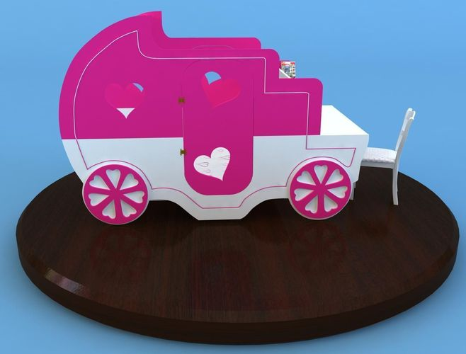 carriage bed3D model