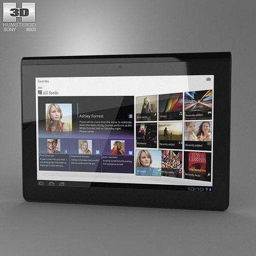 sony tablet s 3d model max obj 3ds fbx c4d lwo lw lws 1