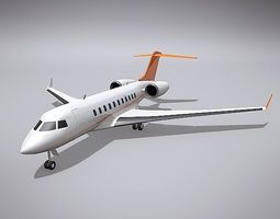 3D Bombardier 5000 global business jet air