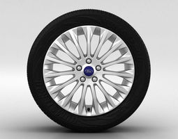 Ford Focus Wheel 17 inch 003 3D Model