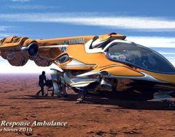3D model JK457 First Response Ambulance