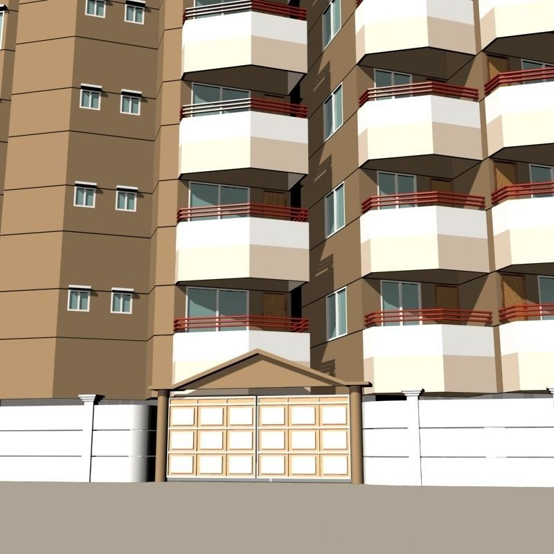Apartment building 01 3d model max obj 3ds fbx lwo lw lws for Apartment 3d model