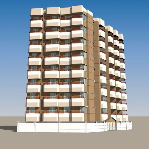 Apartment Building 013D model