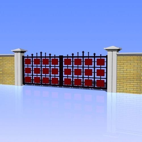Fence and Gate 023D model
