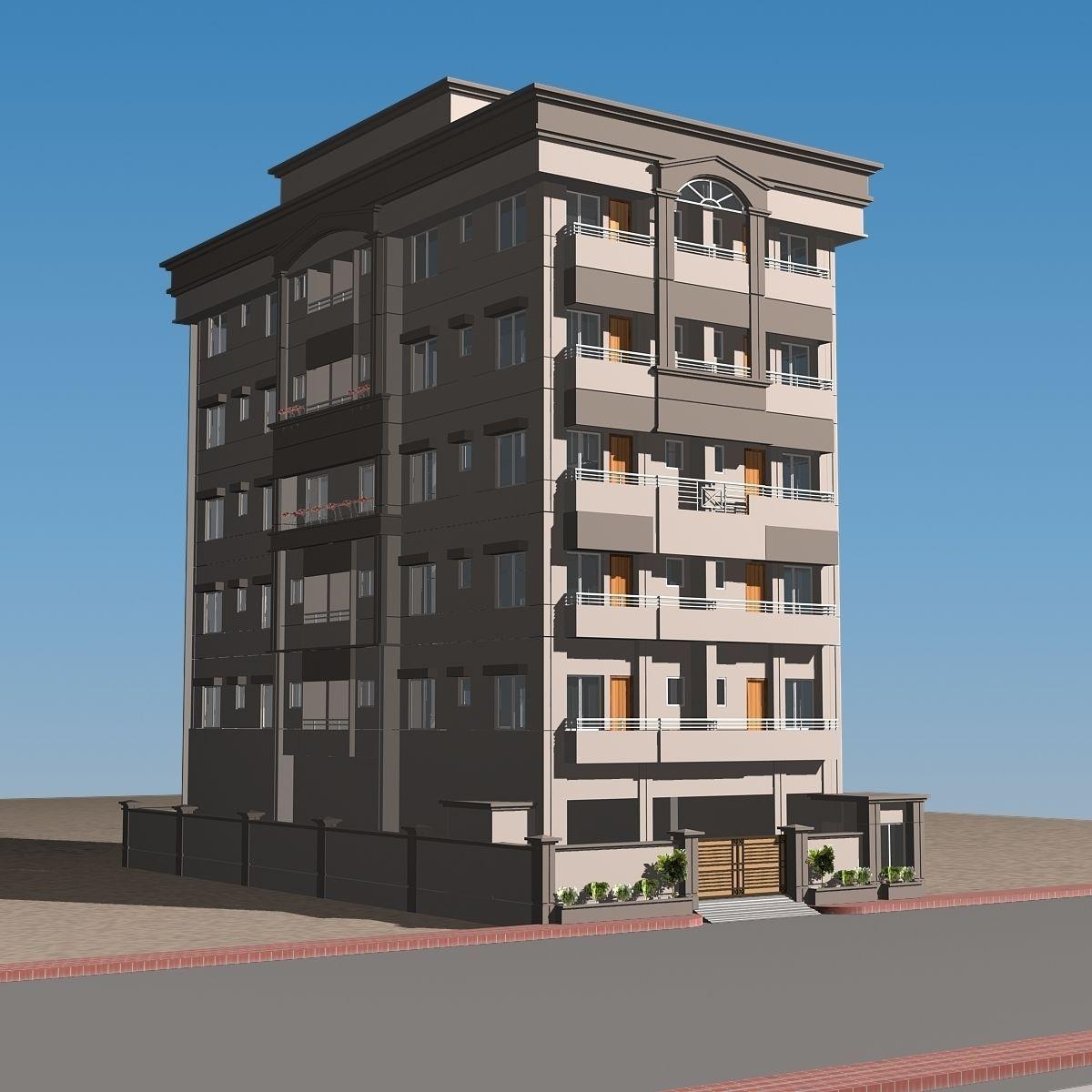 High definition building 01 3d model max obj 3ds fbx for 3d max building