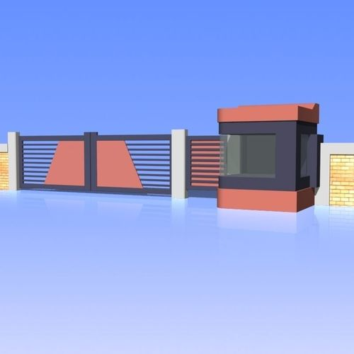 Fence and Gate 013D model