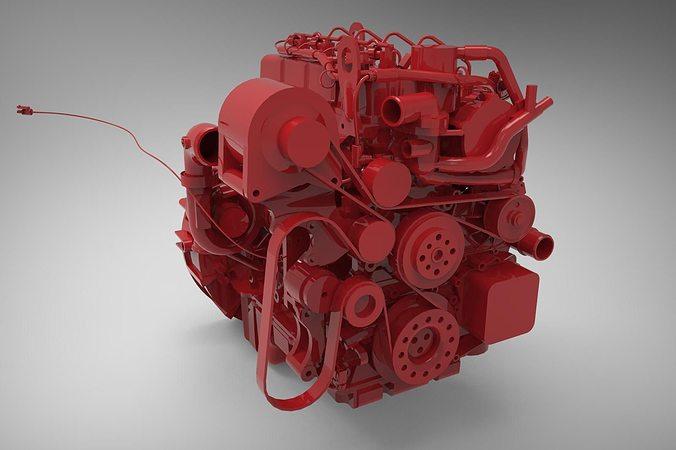 engine cummins isf 2 3d model max fbx stp 1