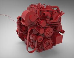 Engine Cummins ISF 2 3D Model