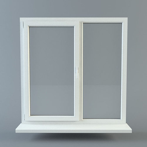 window 3d model obj fbx ma mb 1