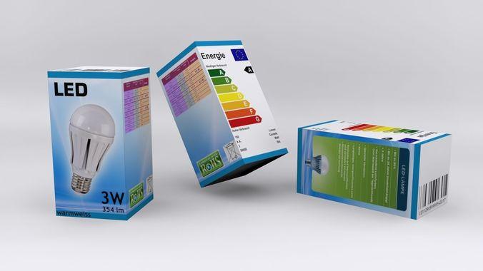 Box Led Lamp3D model