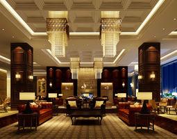 Bar lobby interior 3D