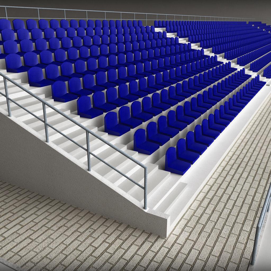 Stadium Concrete Seating Tribune 3D model | CGTrader